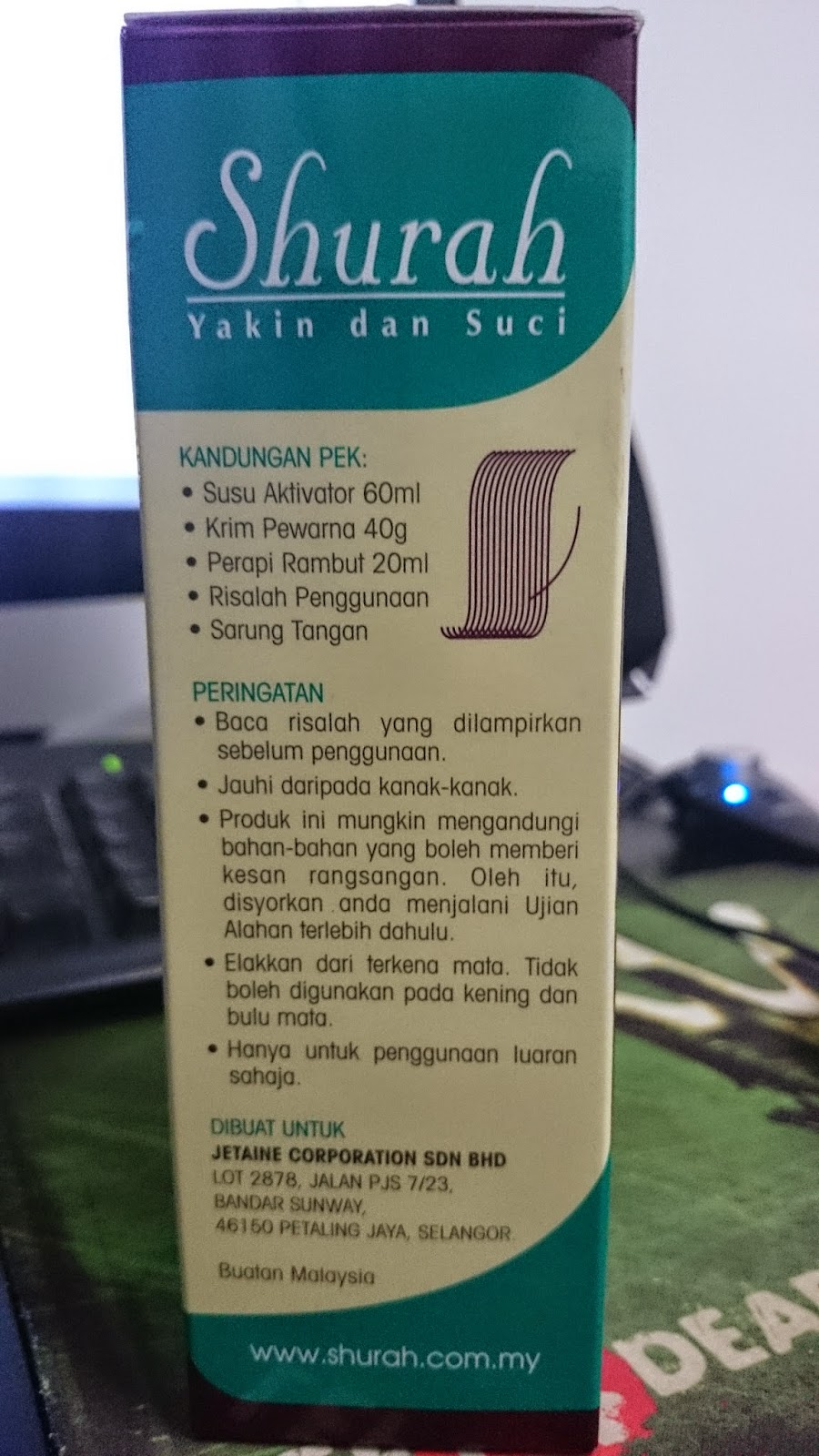 Pewarna Rambut Shurah 03 Burgundi Review And Instruction To Use