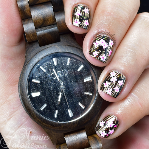 Jord Wood Watch Inspired Nail Art