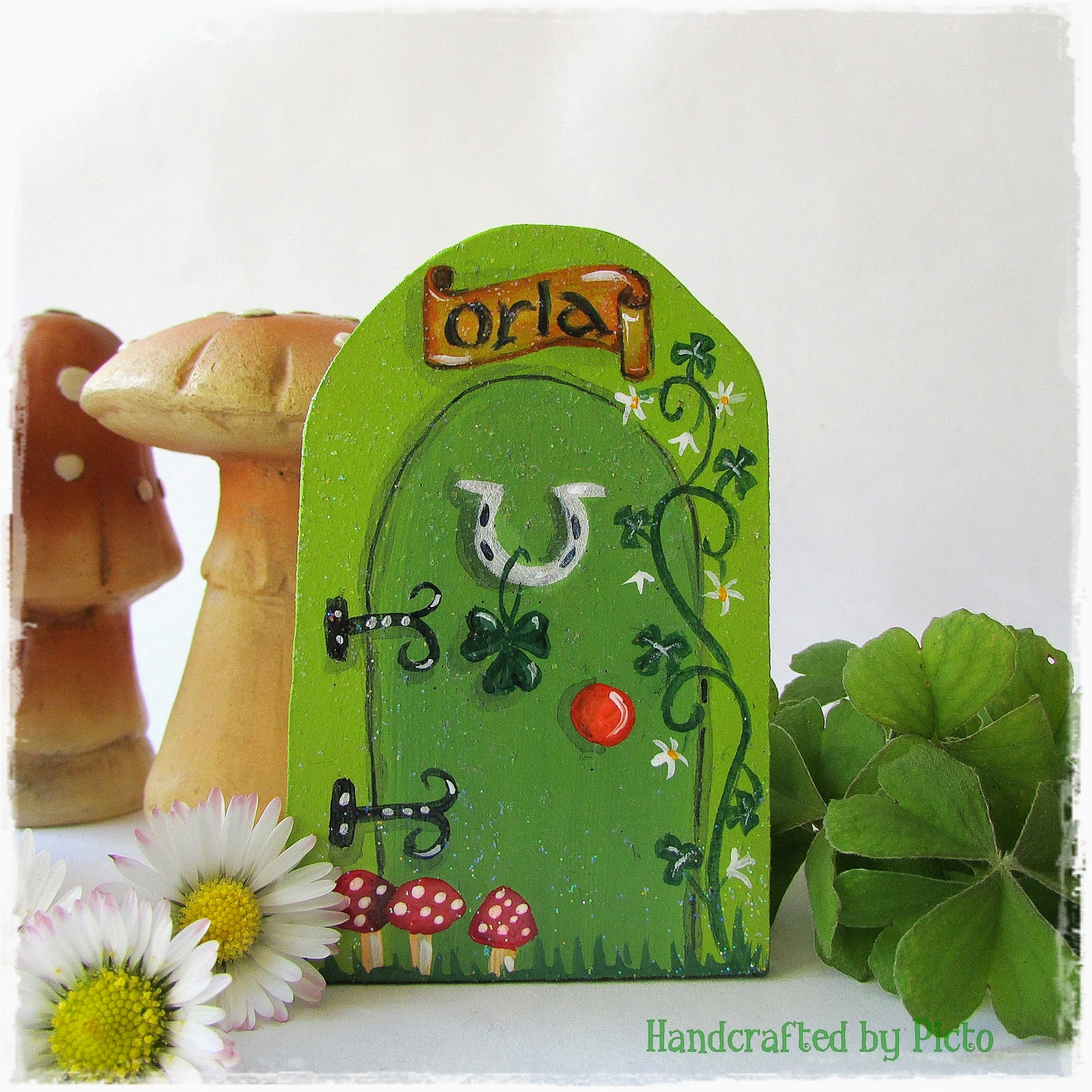 St Patricku0027s Leprechaun Door & Handcrafted by Picto: St Patricks Day Leprechauns and a Little ... pezcame.com