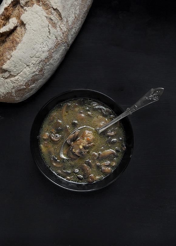 Cremini mushroom soup with Cognac