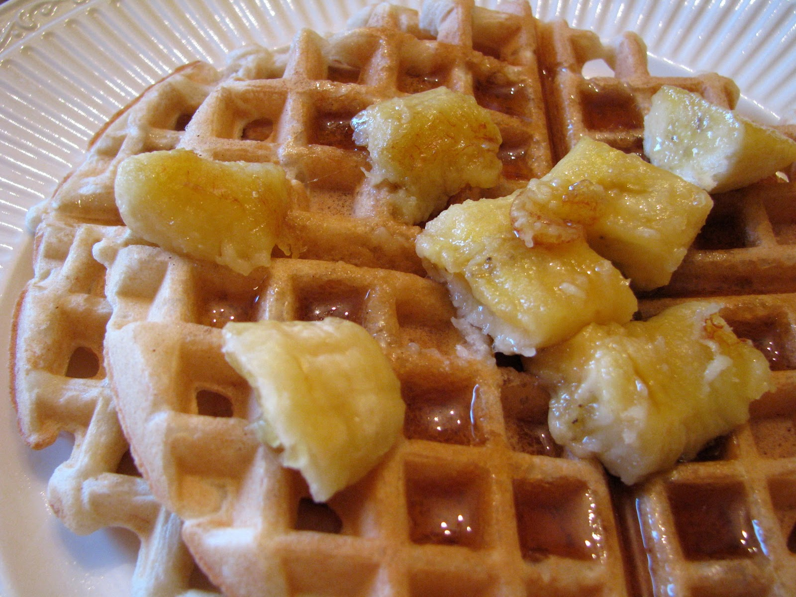 bananas and waffles