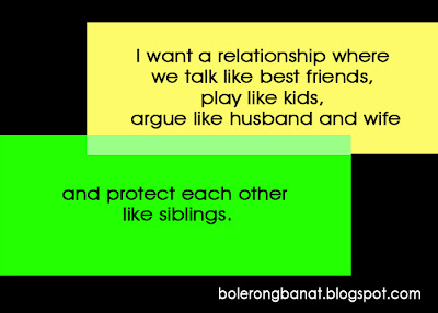 I want a relationship where we talk like best friends