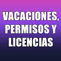 VACACIONES, PERMISOS Y LICENCIAS