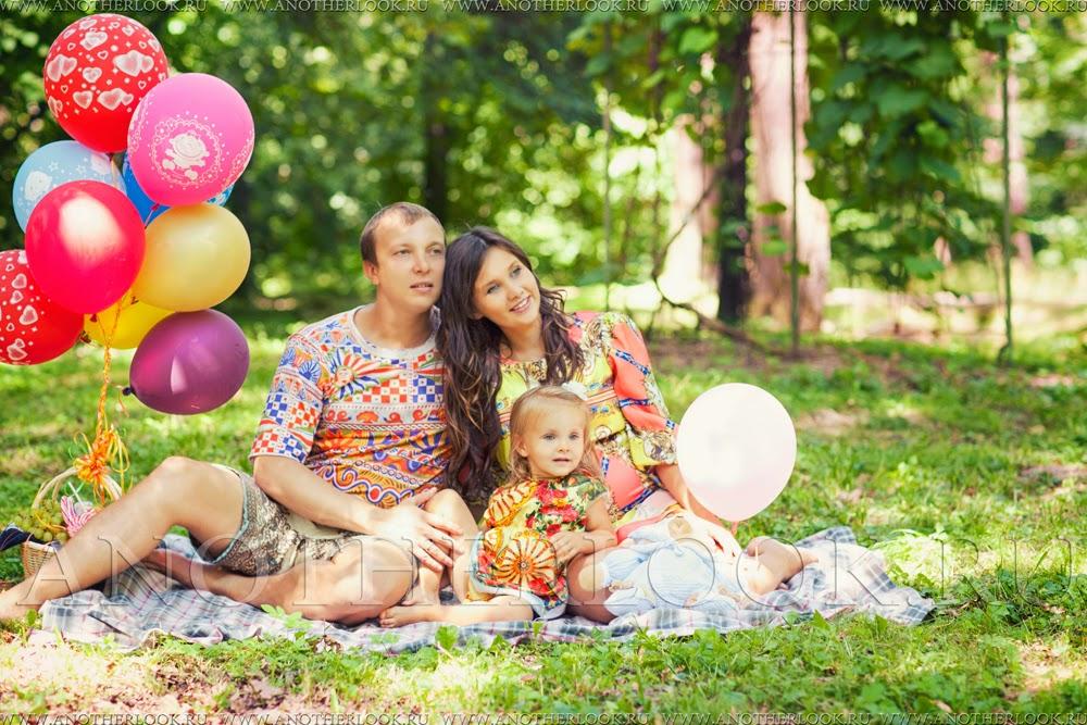 фотосессия на пикнике семья