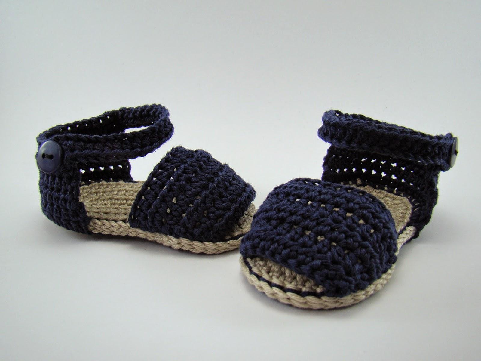 Varetas & Jaretas: Abarcas menorquinas para bebé a crochet