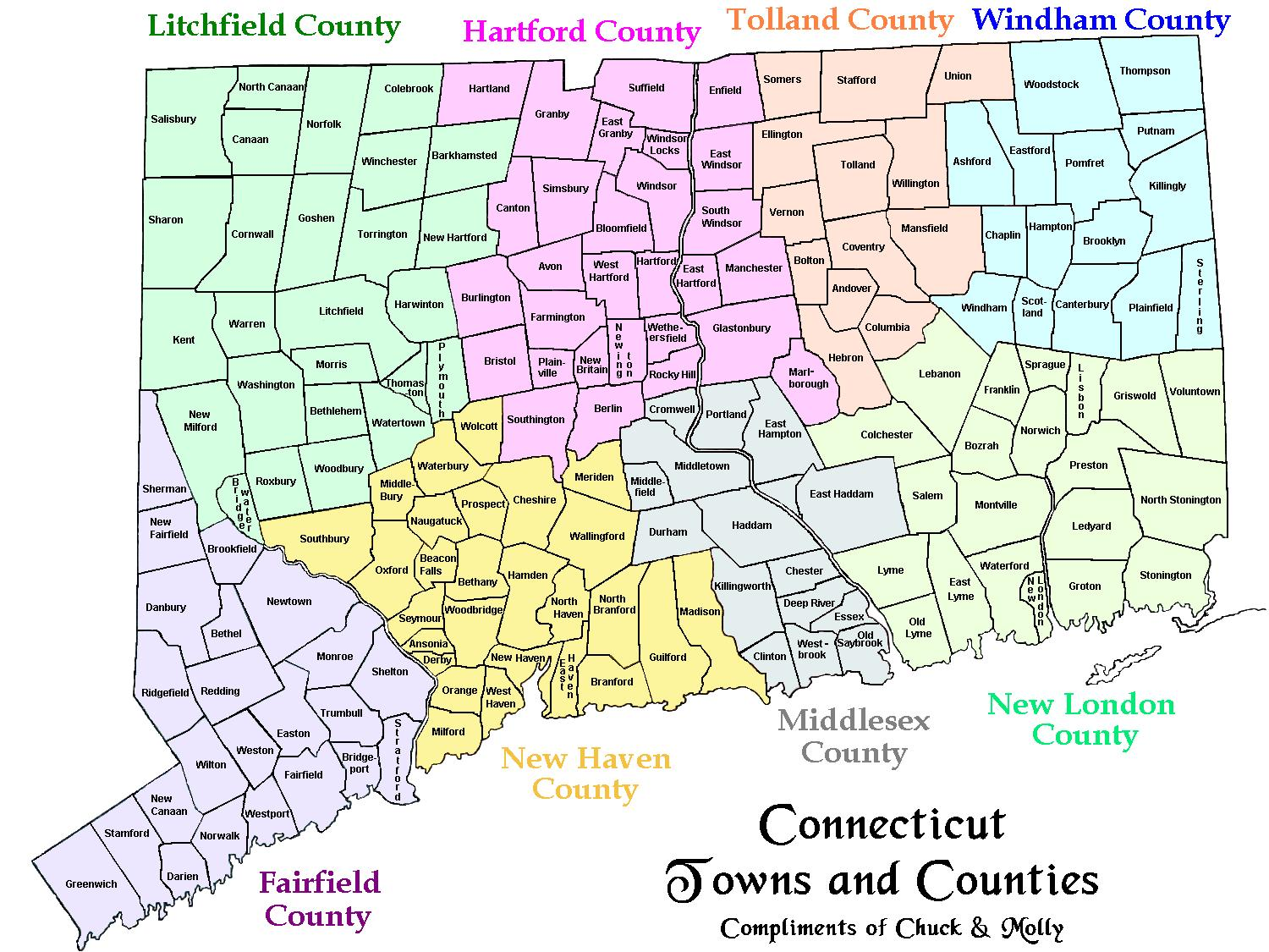Connecticut State Maps USA Maps Of Connecticut CT Ivoryton - Usa connecticut map