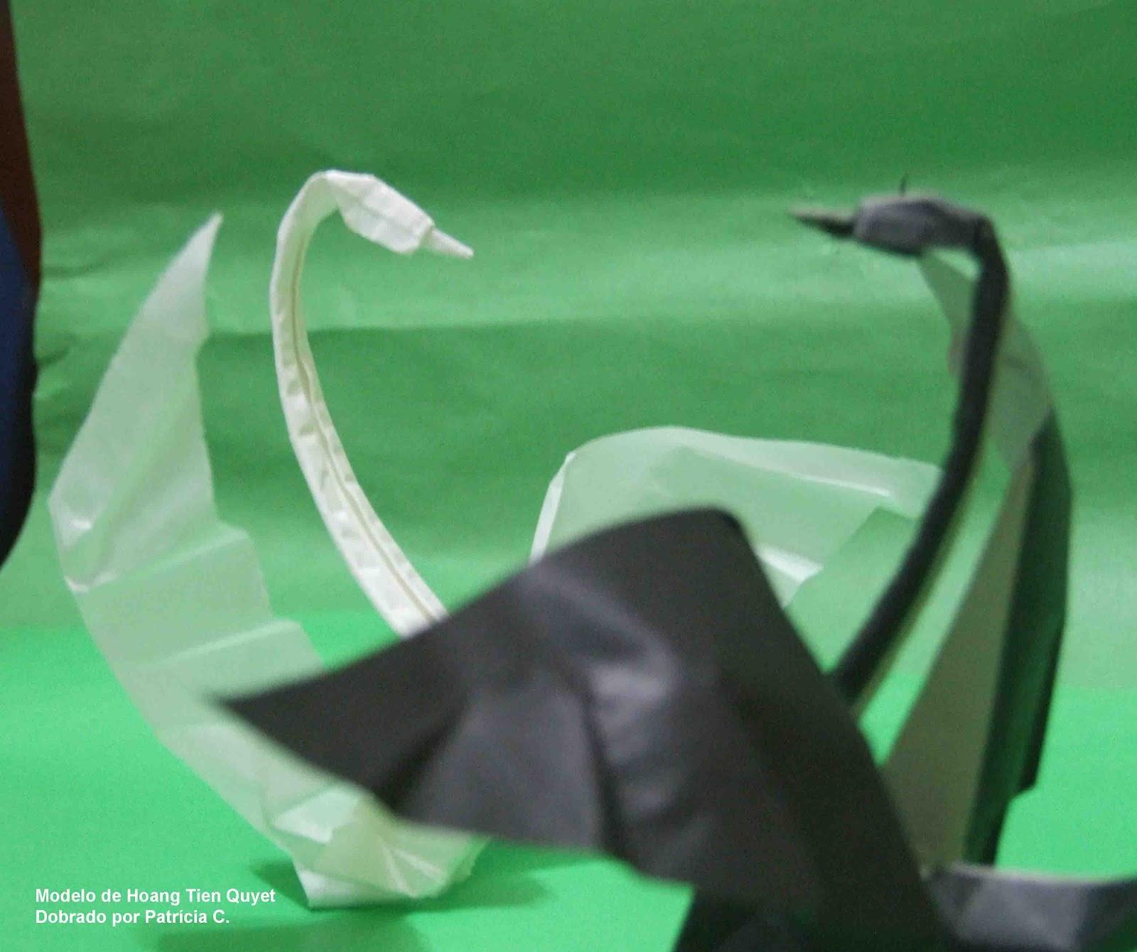 Pilha Infinita: Cisne (Swan - Origami) - photo#42