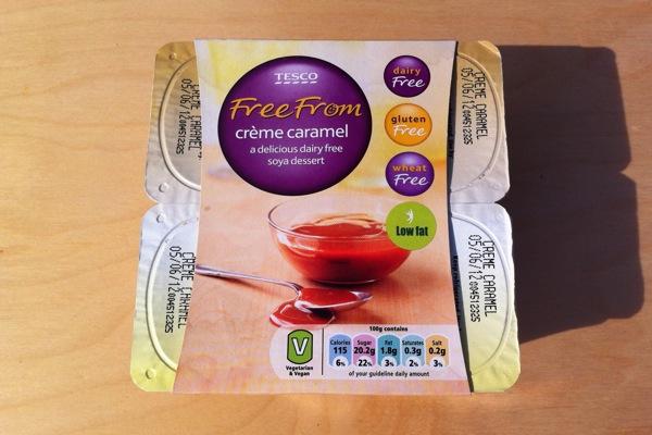 Tesco Free From Vegan Creme Caramel Desserts