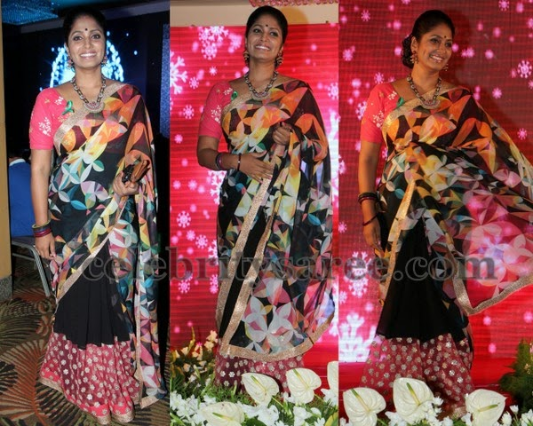 Jhansi Floral Printed Saree