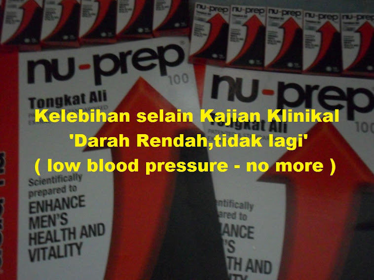 No more low blood pressure Nu-Prep 100 US,EU patent long jack