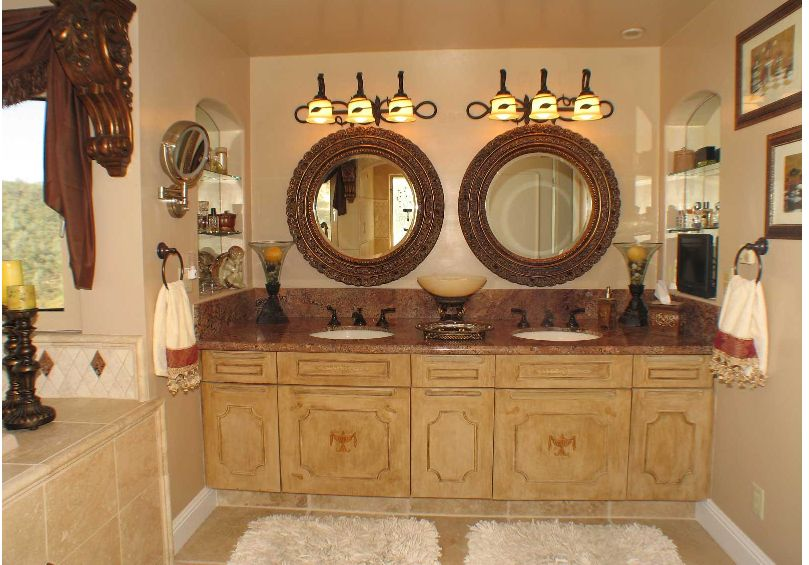 Tuscan style bathroom decorating pinterest for Tuscan style bathroom ideas