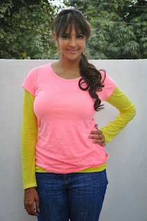 Lakshmi Manchu Pictures in Jeans at Chandamama Kathalu Movie Press Meet