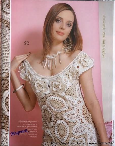 Patrones de vestidos de fiesta tejidos a crochet