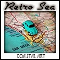 retro sea decor maps