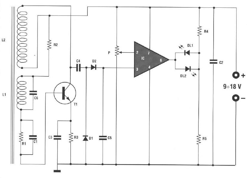 Chart metal detector.