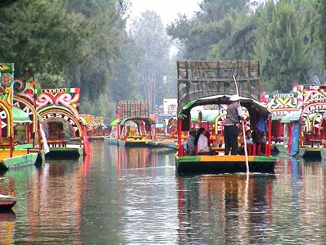 Jardínes flotantes de México - Tenochtitlan
