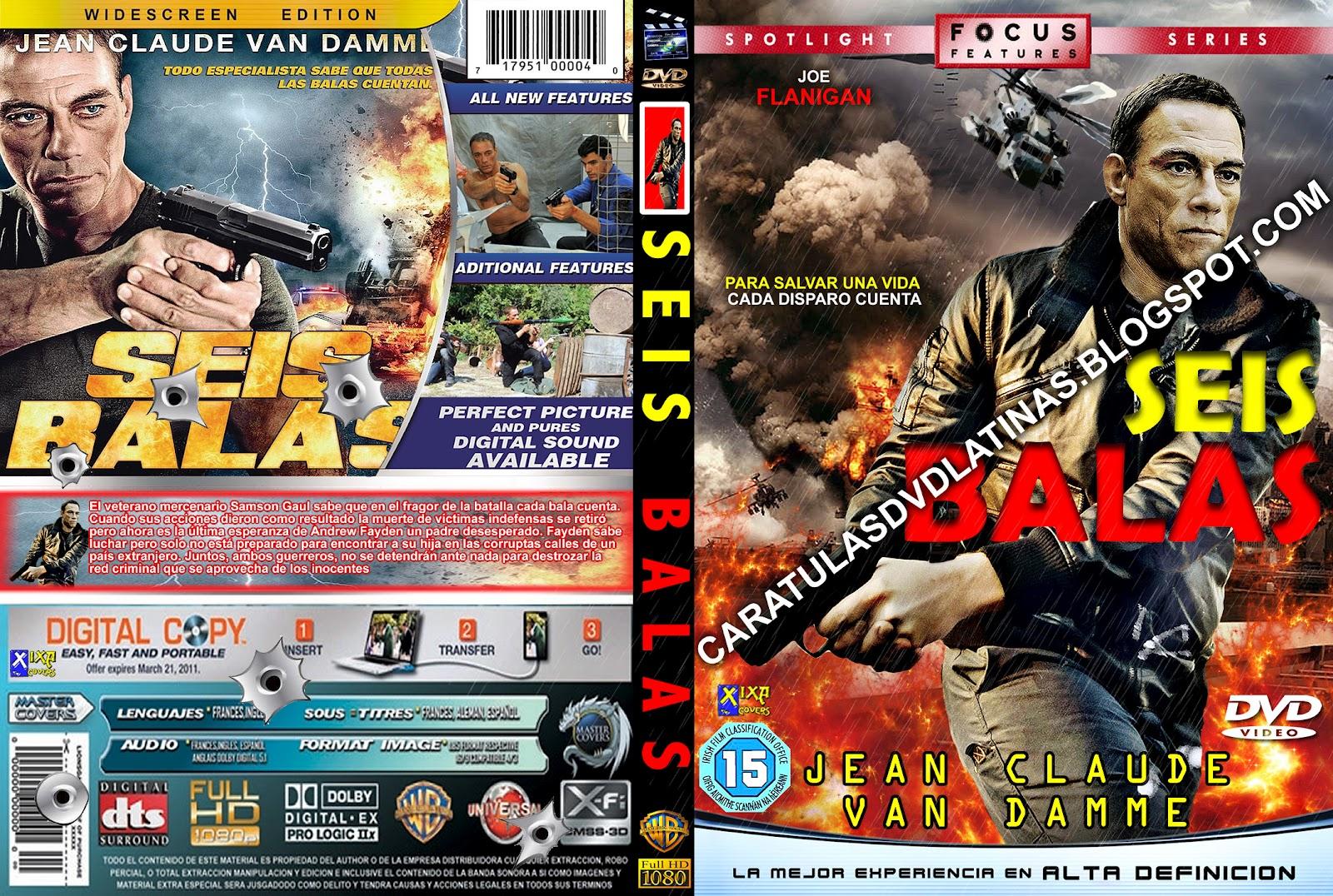 CARATULAS DVD LATINAS: SEIS BALAS dvd cover caratula SIX BULLETS