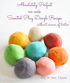 http://stayathomeeducator.com/absolutely-perfect-no-cook-scented-play-dough-recipe-without-cream-tartar/
