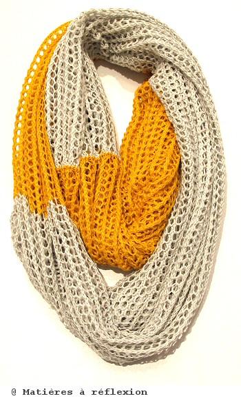 Karakoram foulard loop jaune