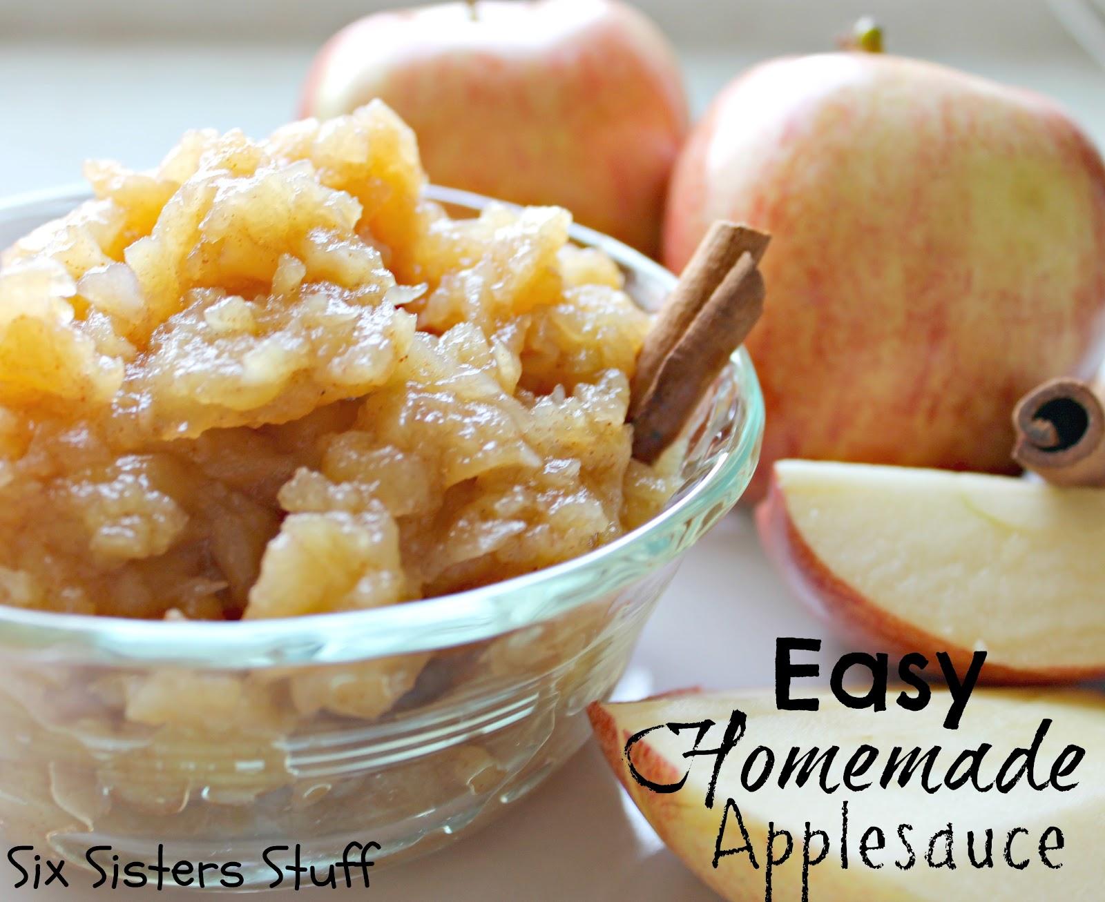 Homemade Applesauce Easy homemade applesauce