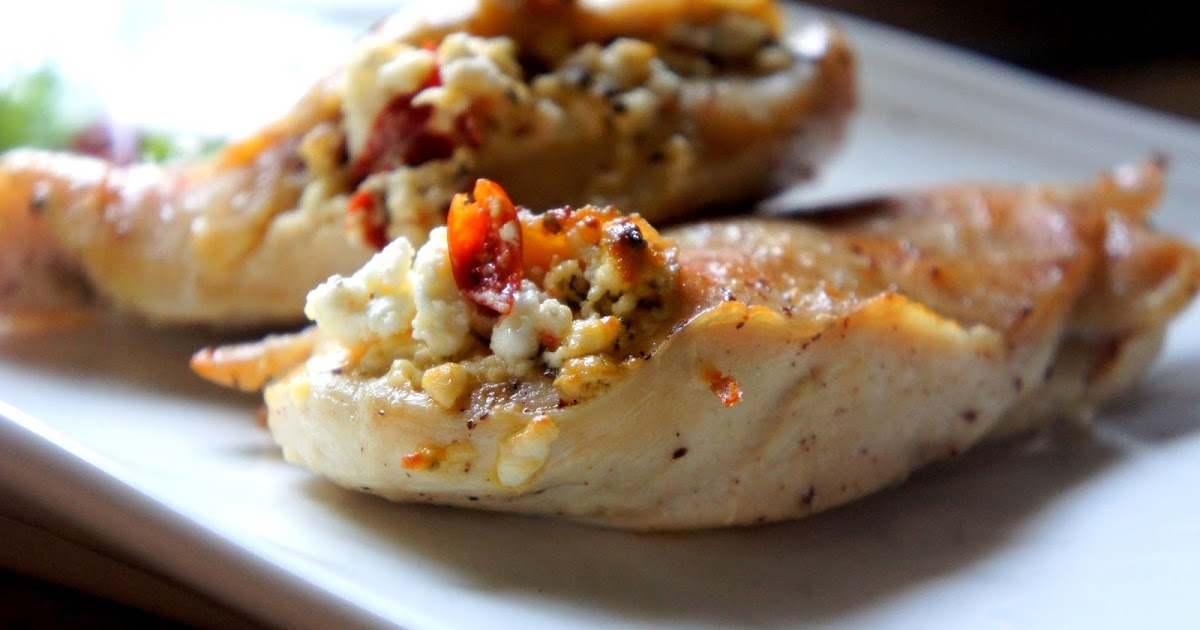 Let's talk food : Baked Chicken stuffed with Goat's Cheese and Piri ...