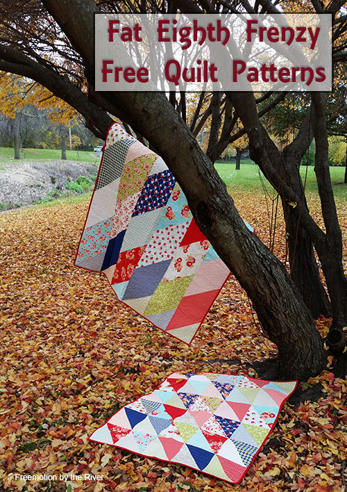 Fat Eighth Frenzy Quilts at Freemotion by the River