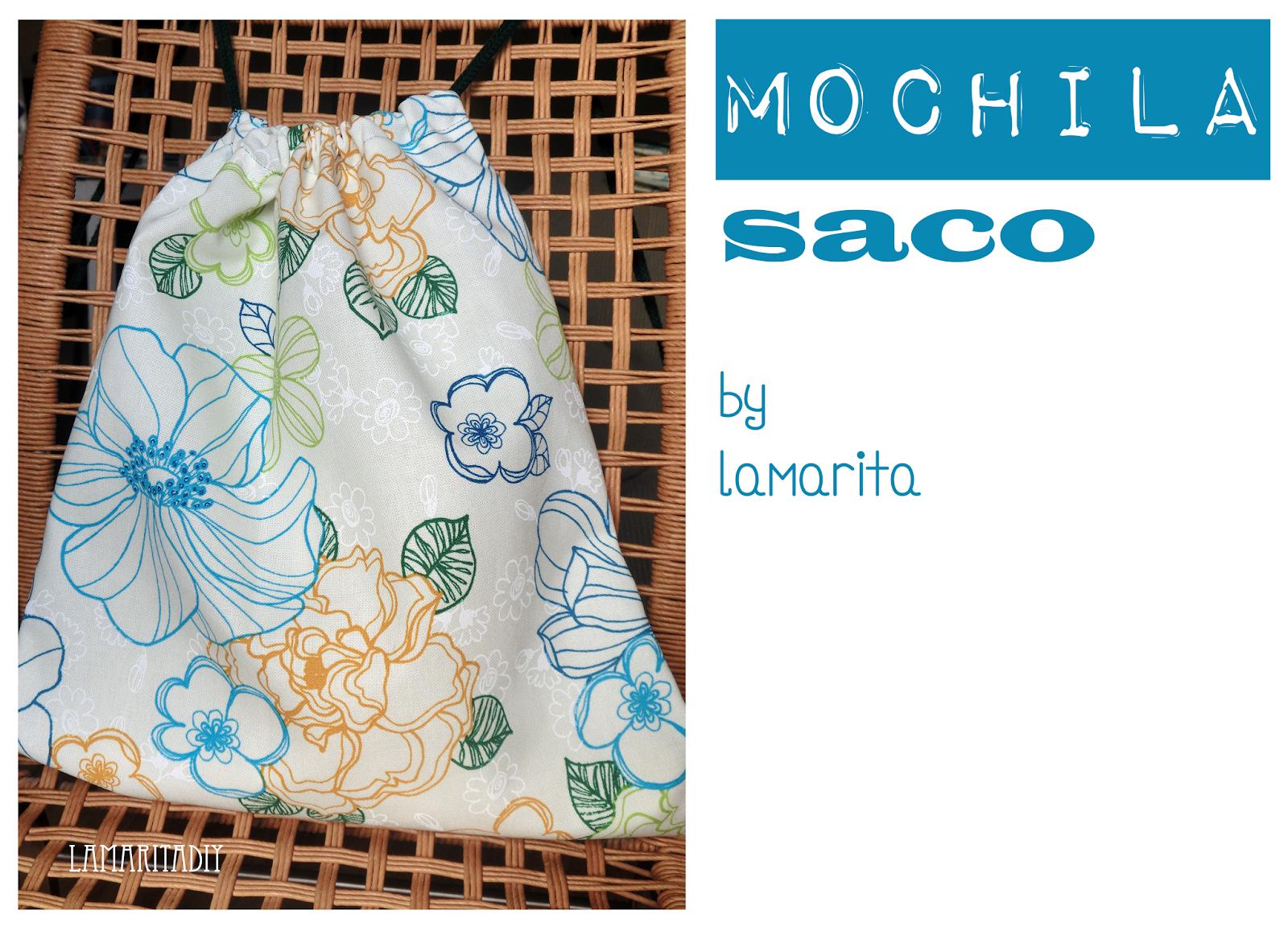 Lamarita DIY: Mochila Saco: Tutorial