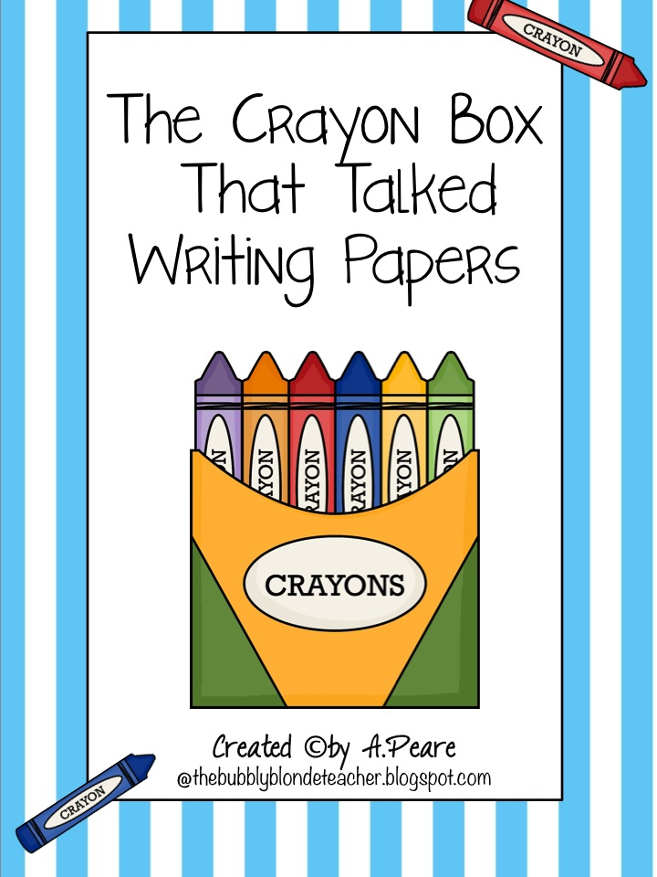 The Crayon Box That Talked Freebie Writing Papers The Bubbly