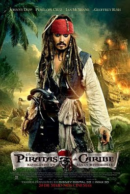 Filme Poster Piratas do Caribe 4 - Navegando em Águas Misteriosas DVDRip XviD Dual Áudio & RMVB Dublado