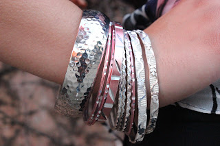 Pink and Silver Arm Party