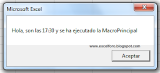 VBA: Ejecutar una macro de Excel a una hora determinada.