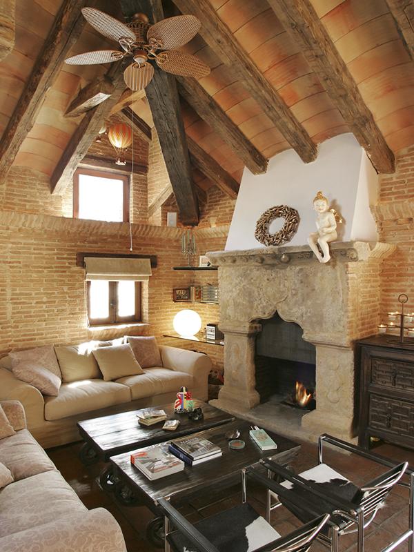 Como elegir la chimenea perfecta fincas y casas de campo - Chimeneas de ladrillo visto ...
