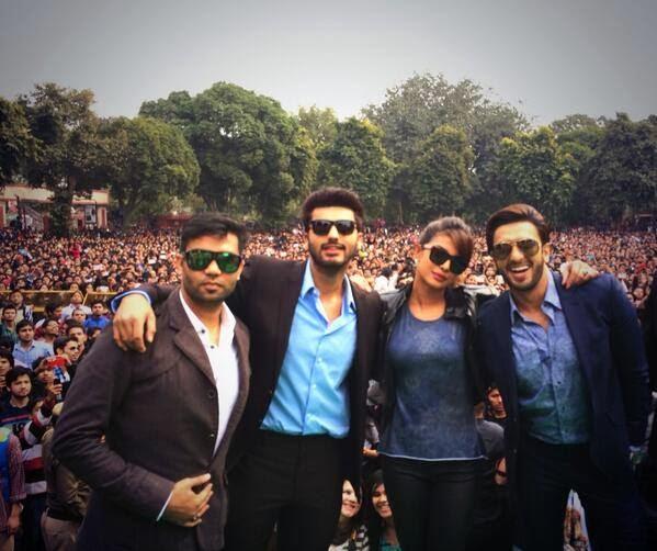 Priyanka, Ranveer & Arjun  at Delhi and Mumbai to promote Gunday