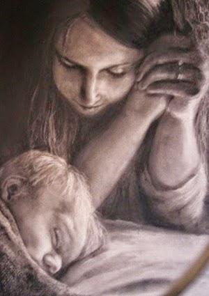 Imádkozó édesanya
