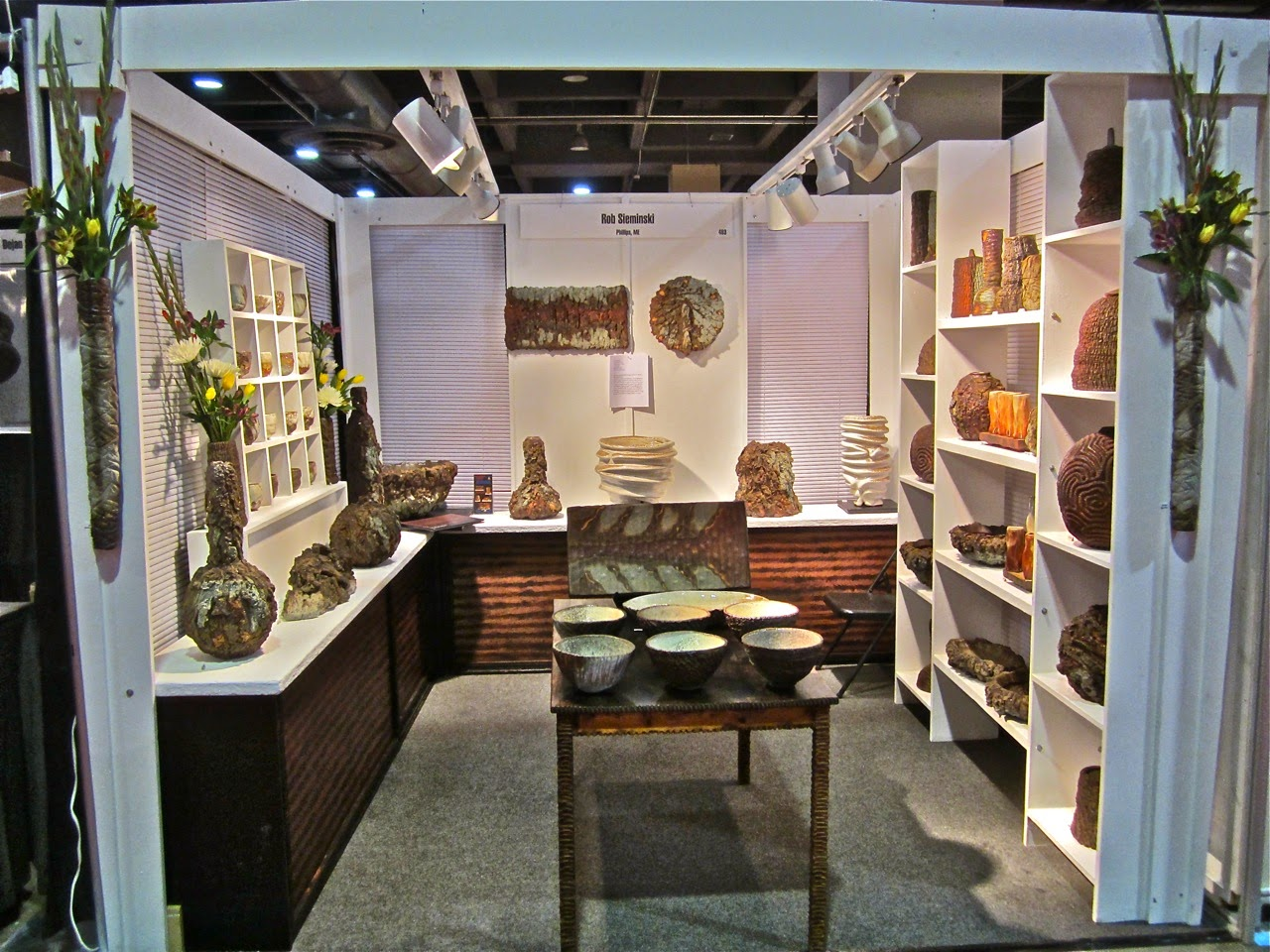 Rob sieminski ceramics philadelphia craft show booth 1 for Craft fair in philadelphia pa