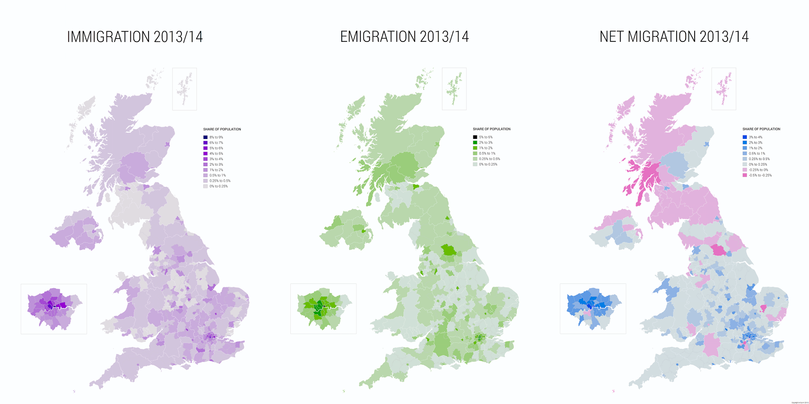 Migration in the UK between 2013 and 2014