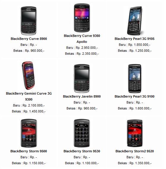 Berikut ini Daftar Harga Blackberry Murah Terbaru 2013 meliputi ...