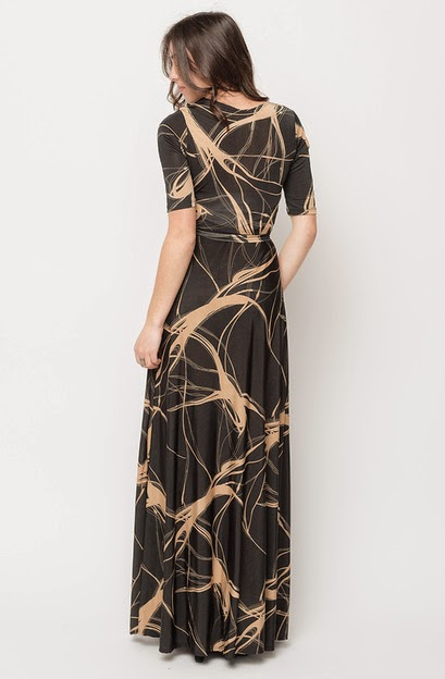 Buy online ABSTRACT PRINT WRAP MAXI DRESSES for women on sale at caralase.com