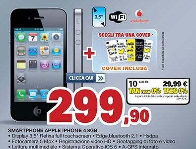 In vendita l'iPhone 4 di Apple con finanziamento rateale a tasso zero e con cover in omaggio