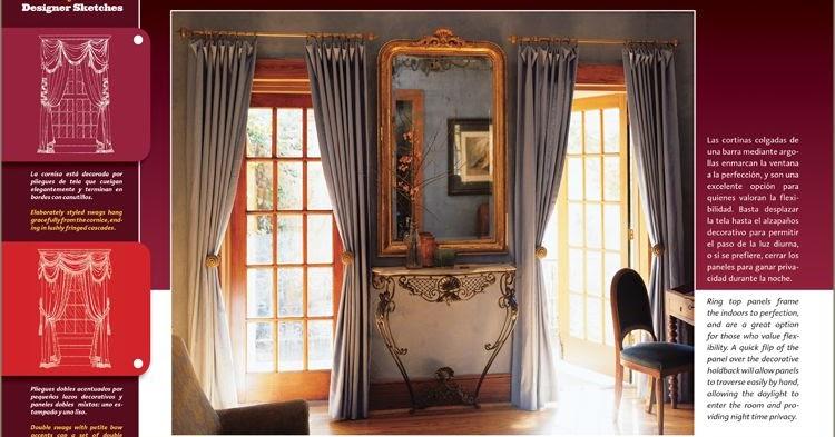 Libros cortinas dise o confecci n decoraci n de interiores for Libros diseno interiores