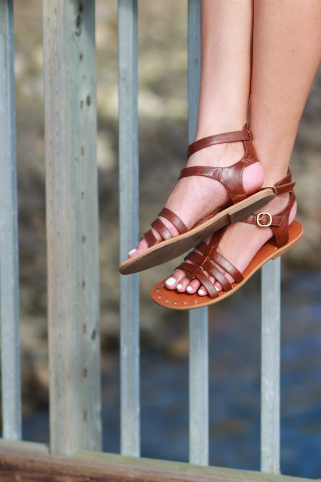gladiator leather sandal flats trend summer