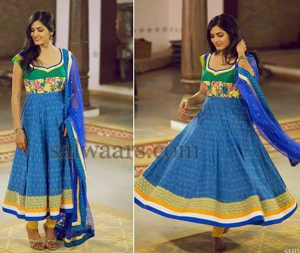 Blue Ikat Salwar by Bhargavi