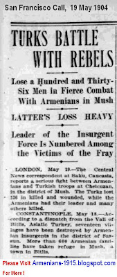 Turks Battle With Rebels -San Francisco Call -19 May 1904