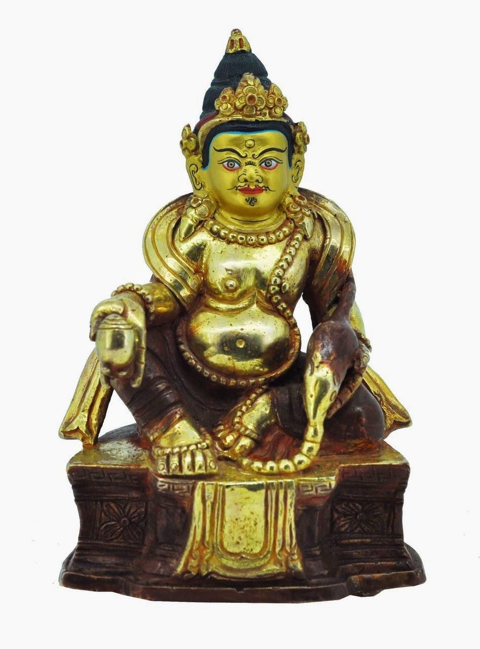 Yellow Dzambhala Statue