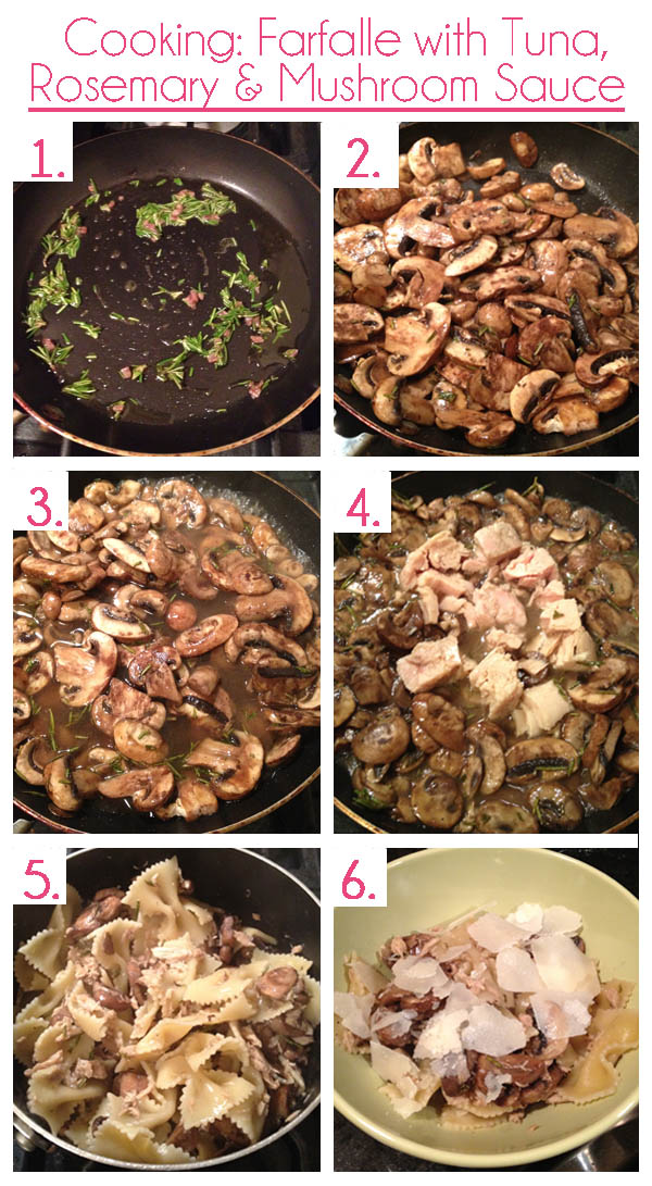 Farfalle With Tuna And Rosemary Mushroom Sauce Recipes ...