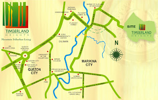 The Ranch at Timberland Heights Quezon City Environs Location Map