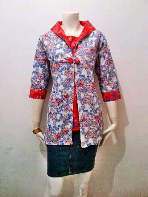 Model Blus Batik Wanita Shakira Series Batik Bagoes Solo