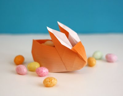 origami bunny favor boxes how about orange