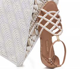 Arezzo alto verão sandalias tendência artesanal