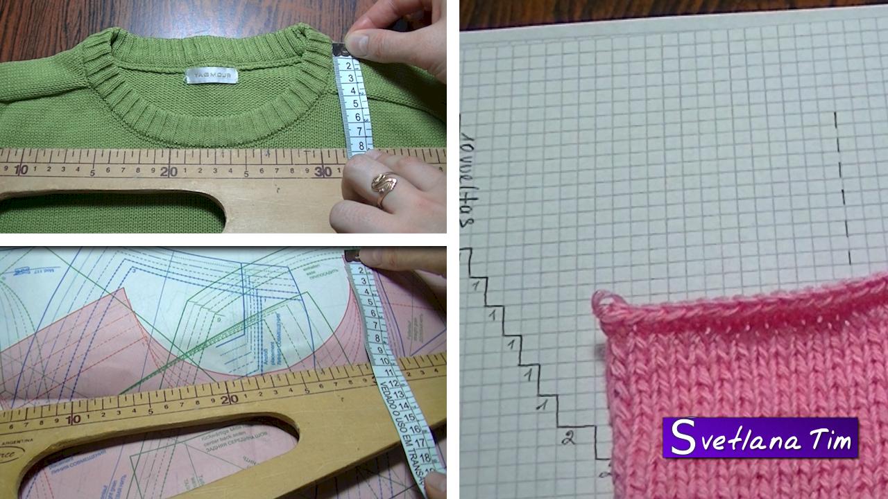 образцы вязания горловины